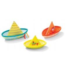 3 bateaux flotants - Lilliputiens