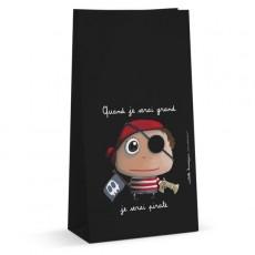 Lot de 6 sachets à bonbons - Pirate - Quand je serai grand