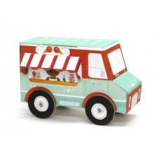 Camion de glaces 3D en carton à assembler - Krooom