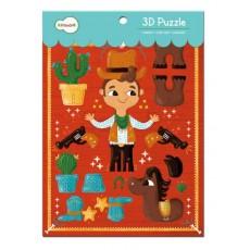 Le Cowboy - Puzzle 3D - Krooom